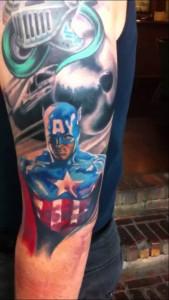 Captain America Tattoo Sleeve