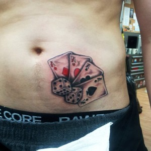 Cards and Dice Tattoos