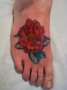 Carnation Foot Tattoo