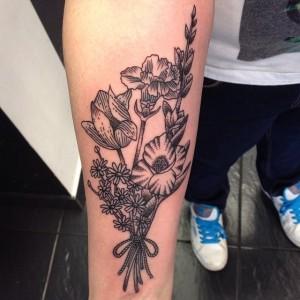Carnation Tattoo Black