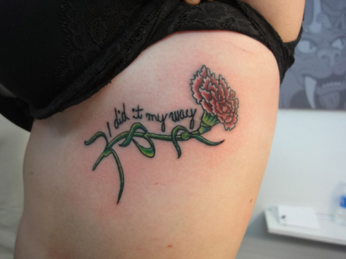 Carnation tattoos meaning pictures to pin on pinterest for Can fbi agents have tattoos