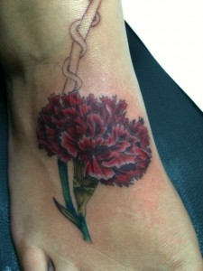 Carnation Tattoo Images