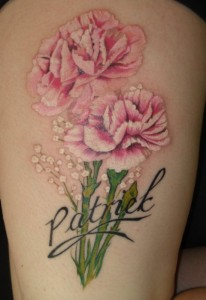 Carnation Watercolor Tattoo