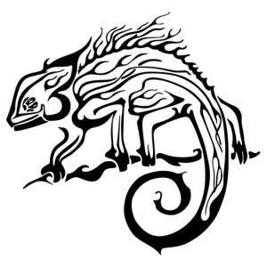 Chameleon Tattoo Tribal