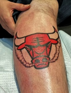 Chicago Bulls Tattoo for Girls