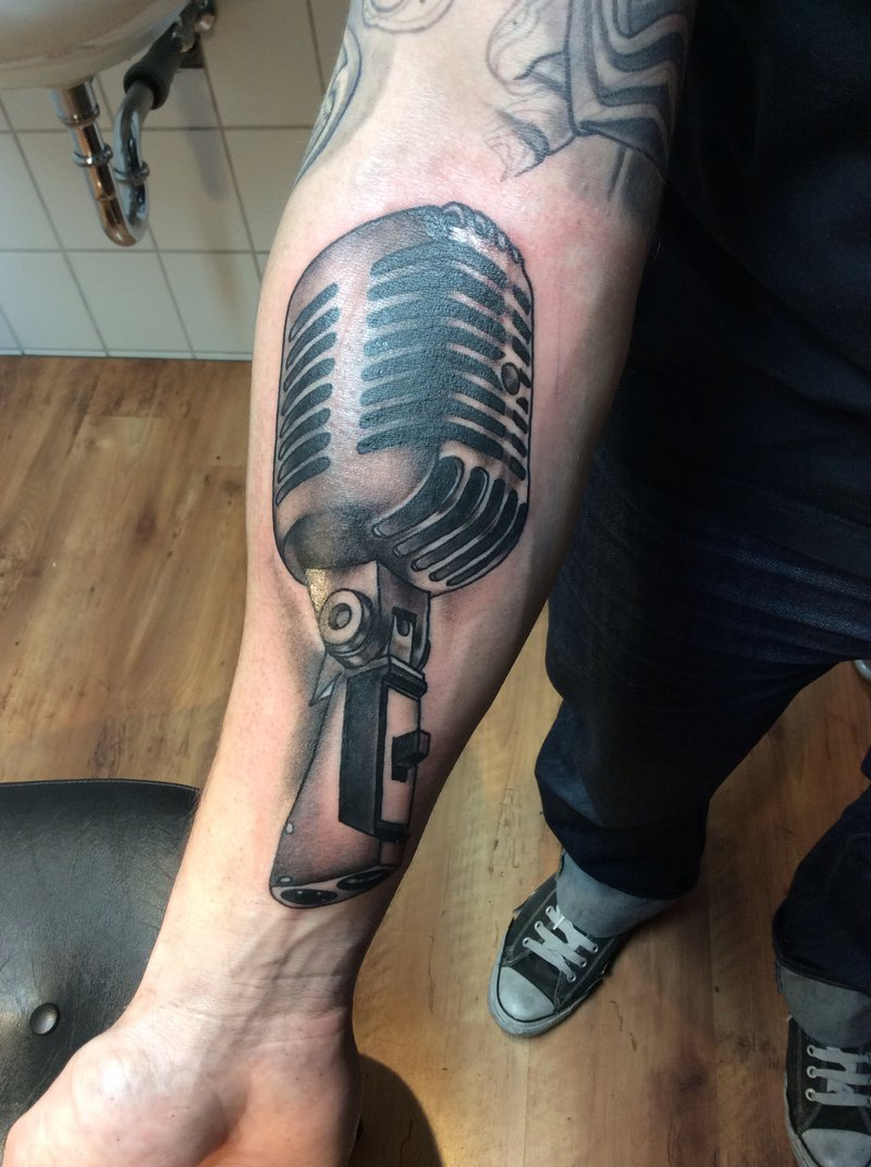 Microphone Tattoos Designs, Ideas and Meaning | Tattoos ...  Microphone Tattoo Designs For Girls