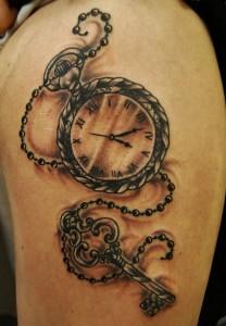 Clock Locket Tattoo