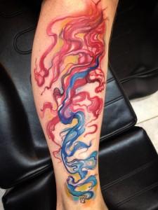 Colorful Smoke Tattoos