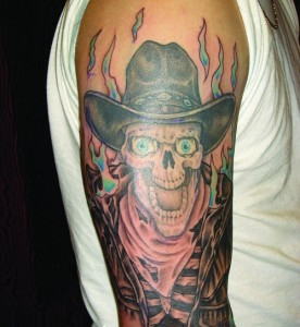 Cowboy Tattoo Sleeve