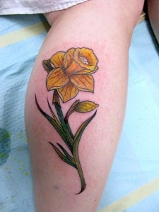 Daffodil Flower Tattoo
