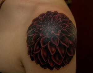 Dahlia Tattoo Images