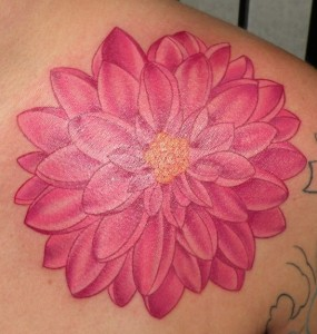 Dahlia Tattoo Watercolor