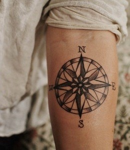 Dainty Compass Tattoos