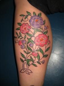 Dainty Flower Tattoos