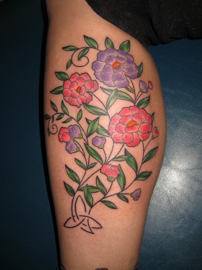 Flower Leg Tattoos: Dainty Tattoos Designs, Ideas And Meaning