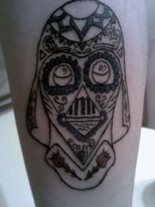 Darth Vader Sugar Skull Tattoo