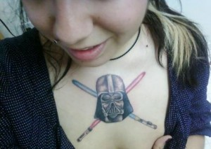 Darth Vader Tattoo Girl
