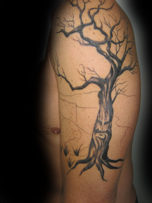 Dead tree tattoos designs ideas and meaning tattoos for you for Death tree tattoo