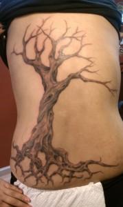 Dead Tree Tattoo Side
