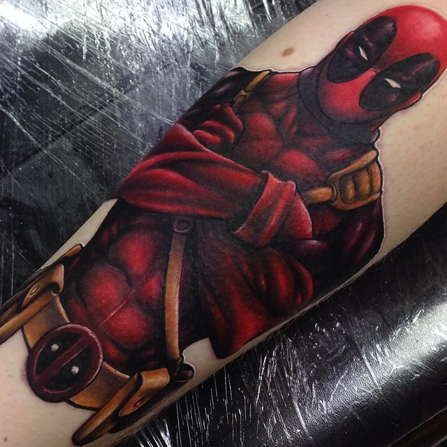 Deadpool tattoos designs ideas and meaning tattoos for you for Marvel sleeve tattoo black and white