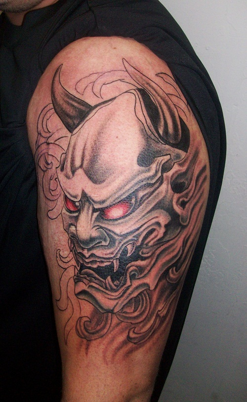 demon face tattoo - photo #25