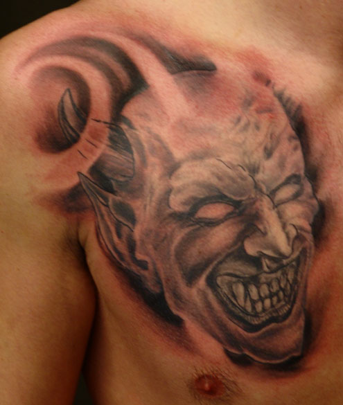 demon face tattoo - photo #40