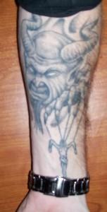 Devil Tattoos on Forearm