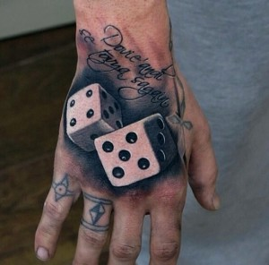 Dice Tattoos on Hand