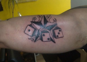 Dice and Star Tattoos