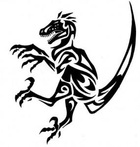 Dinosaur Tattoo Tribal