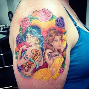 Disney Princess Tattoos Designs
