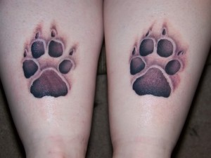 Dog Paw Print Tattoo Designs