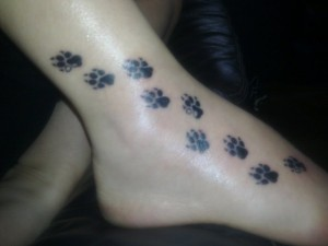 Dog Paw Print Tattoo Images