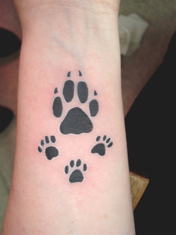 dog paw print tattoos designs ideas and meaning tattoos for you. Black Bedroom Furniture Sets. Home Design Ideas