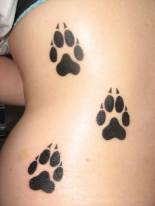 Dog Paw Print Tattoos