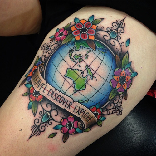 Earth Tattoos Designs, Ideas And Meaning
