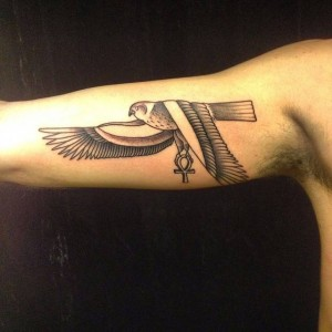 Egyptian Falcon Tattoo