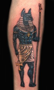Egyptian Tattoos Anubis