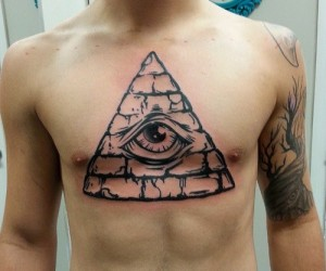 Eye Pyramid Tattoo
