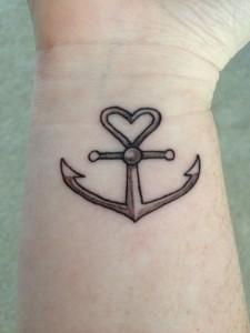 Faith Hope and Love Anchor Tattoo