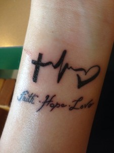 Faith Hope and Love Tattoo
