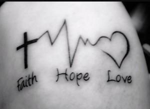 Faith Hope and Love Tattoo on Arm