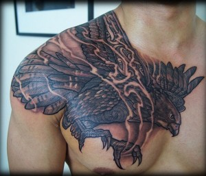 Falcon Shoulder Tattoo