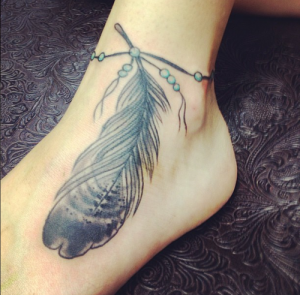 Feather Anklet Tattoo