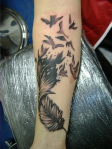 Feather Bird Tattoos