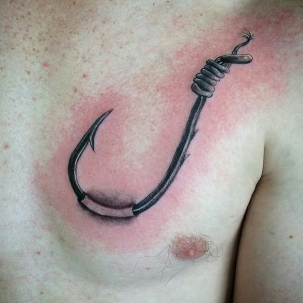 fish hook tattoos designs ideas and meaning tattoos for you. Black Bedroom Furniture Sets. Home Design Ideas