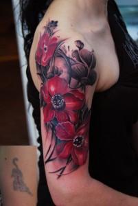Flower Half Sleeve Tattoos