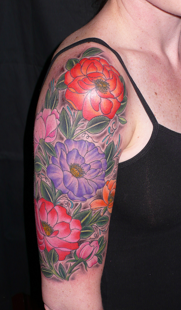 flower sleeve tattoos designs