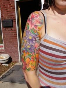 Flower Sleeve Tattoos Girls