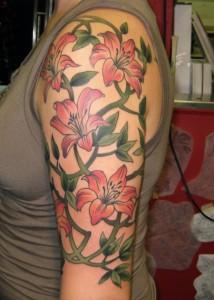 Flower Sleeve Tattoos Women